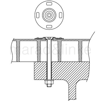 Кріплення для настилу та плит типу W 2